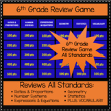 6th Grade Review Game - All Standards