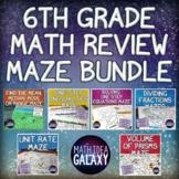 6th Grade Math Digital Maze Bundle
