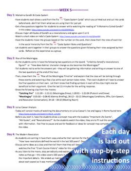 UNIT PLAN - 6th Grade Rebels & Revolutionaries in History (6 Weeks)
