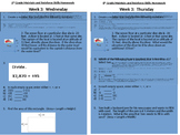 6th Grade SBAC Modeled Weekly Questions Wk 3
