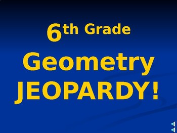 6th Grade STAAR Area and Volume Jeopardy Review