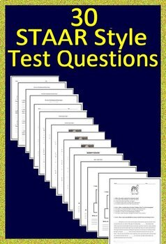 Grade 6 STAAR Reading Passages Practice Tests with STAAR Questions and Answers