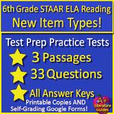 6th Grade STAAR Test Prep Reading Practice Tests Bundle