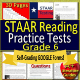 6th Grade STAAR Test Prep Practice Tests Reading Review Collection