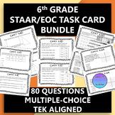 6th Grade STAAR EOC Task Card Bundle