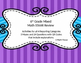 6th Grade STAAR Math Mixed Review--all 4 Categories
