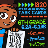 6th Grade STAAR Math Review Task Cards ★ All Math TEKS Standards From 6.2A-6.13B