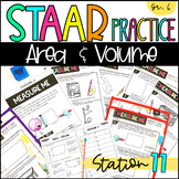 6th Grade STAAR Practice Station 11: Area & Volume TEKS 6.8D Test Prep