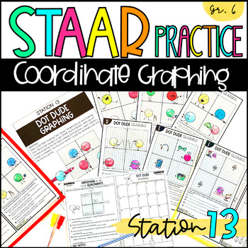 6th Grade STAAR Practice Station 13: Coordinate Graphing TEKS 6.11A