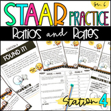 6th Grade STAAR Practice Station 4: Ratios and Rates   TEKS 6.4B