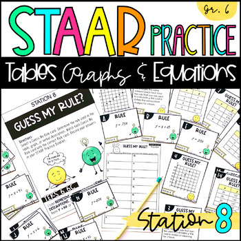 6th Grade STAAR Practice Station 8: Tables, Graphs, & Equations TEKS 6.6C