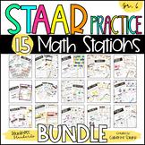 6th Grade STAAR Practice Stations Bundle TEKS & STAAR Test-Prep