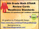 6th Grade Math STAAR Readiness Standards - Task, Scoot Cards