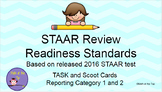 6th Grade Math STAAR Readiness Standards based on 2016 STAAR - Task/Scoot Cards