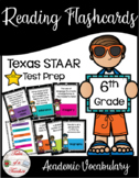 6th Grade STAAR Reading Academic Vocabulary Flashcards