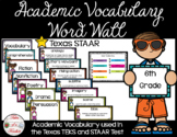 6th Grade STAAR Reading Academic Vocabulary Word Wall