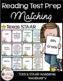 6th Grade STAAR Reading Matching Test Prep