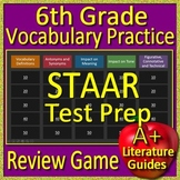 6th Grade STAAR Reading Test Prep Vocabulary Practice Review Game