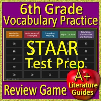 7th grade staar writing prep teaching resources teachers pay teachers 6th grade staar test prep reading vocabulary practice game reading review fandeluxe