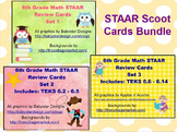 6th Grade STAAR Review Bundle Scoot Cards
