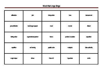 6th Grade STARR Review Lingo Bingo