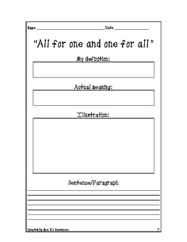 6th Grade Sayings, Phrases, and Idioms BUNDLE PACK