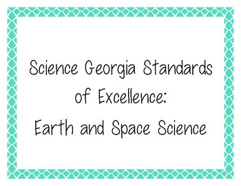 6th Grade Science Georgia Standards of Excellence Posters