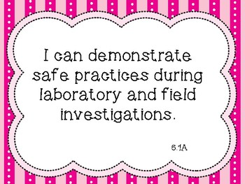 """6th Grade Science """"I Can"""" TEKS Posters ~ Color and B&W Versions"""