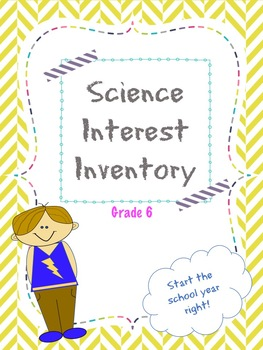 6th Grade Science Interest Inventory