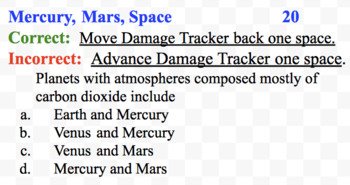 """6th Grade Science Review Game:  """"Earth 2"""""""