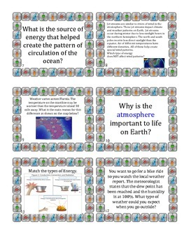 6th Grade Science Review Task Cards