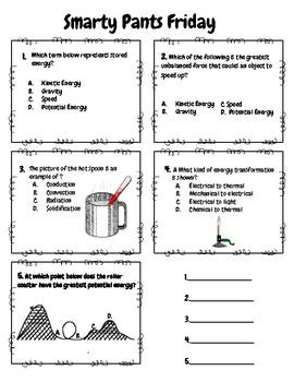 6th Grade Science Spiral Reviews