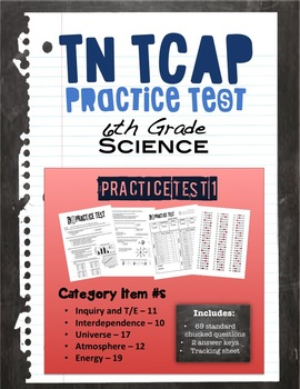 6th Grade Science TCAP Practice Test 1