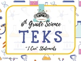 """6th Grade Science TEKS """"I Can"""" Statement Posters {Science POP Theme}"""
