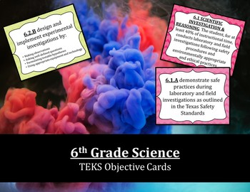 6th Grade Science TEKS Objective Posters