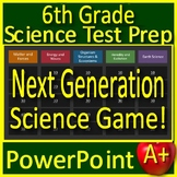 6th Grade Science Test Prep Game: Review NGSS Units - Google Classroom Ready!