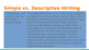 6th Grade Sensory Descriptive Writing Powerpoint