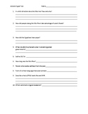 6th Grade Social Studies Ancient Egypt assessment