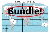 6th Grade Social Studies CRCT /Georgia Milestone Prep BUNDLE!