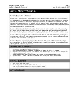 6th Grade Social Studies: Complete Unit 1 Unit Plan and Exam (Map Skills)