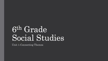 6th Grade Social Studies Georgia Unit 1 Connecting Themes