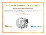 6th Grade Social Studies Performance Tasks