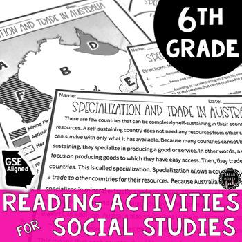 6th Grade Social Studies Reading Activities BUNDLE