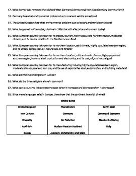 6th Grade Social Studies Review Questions (Word & PPT Bundle)