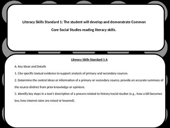 6th Grade Social Studies Standards (Oklahoma)