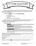 6th Grade Social Studies Syllabus