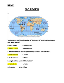 5-9 Social Studies end of the year review