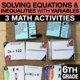 6th Grade Solving Equations & Inequalities with Variables