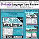 6th Grade Language Spiral Review | 2 Weeks FREE