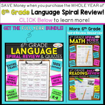 Weekly math homework q2 3 answers 6th grade